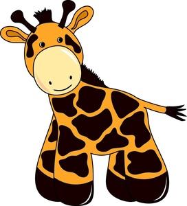 272x300 Free Giraffe Clip Art Image Cute Little Baby Giraffe Toy Image