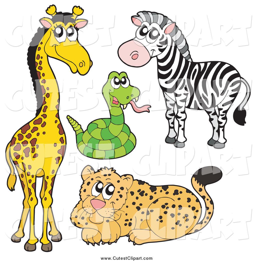1024x1044 Vector Clip Art Of A Cute African Giraffe, Snake, Zebra