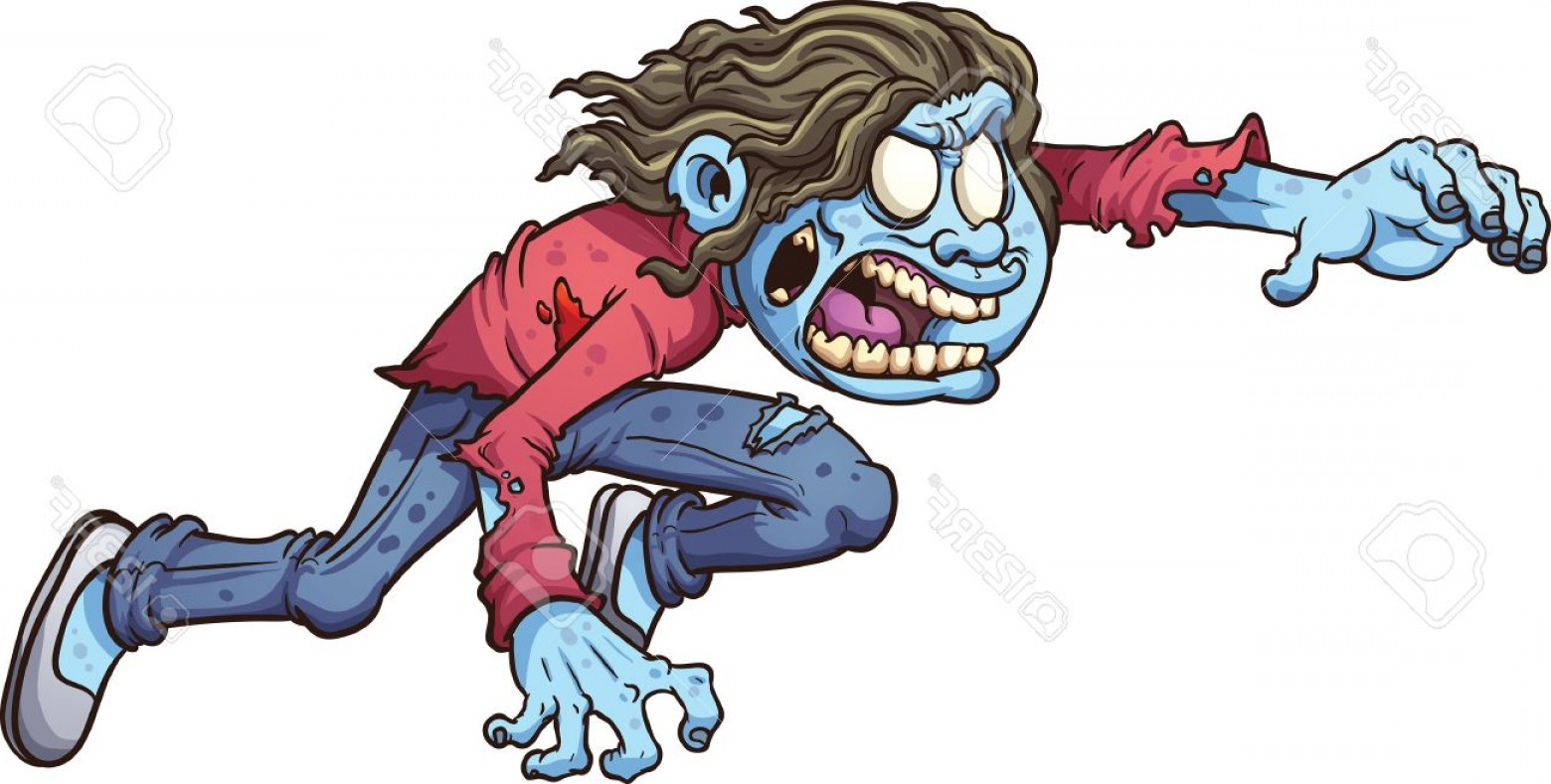 1560x789 Photostock Vector Cartoon Zombie Girl Vector Clip Art Illustration