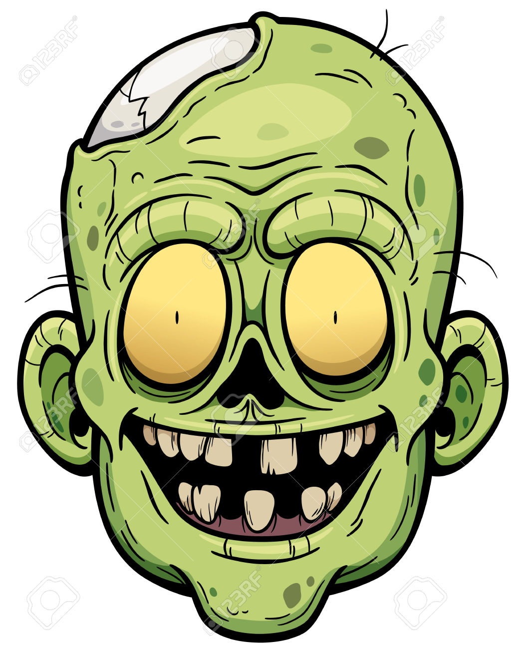 1056x1300 Zombie Clipart Zombie Face