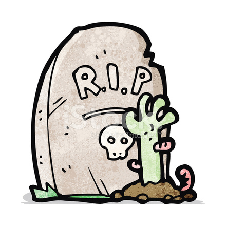 440x440 Cartoon Zombie Rising From Grave Stock Vector