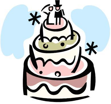 390x365 Clip Art Wedding Cake Free Best Clipart 28085 Clipartion Com
