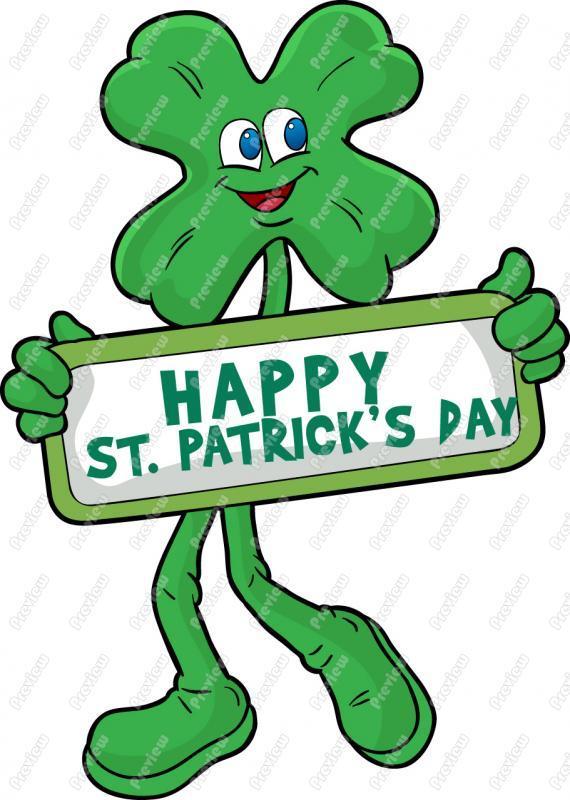 570x800 St Patrick Day Shamrock Clip Art Royalty Free Clipart Vector