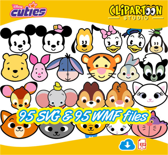 577x533 Clipartoon 95 Disney Cuties Svg E Wmf Formats Instant