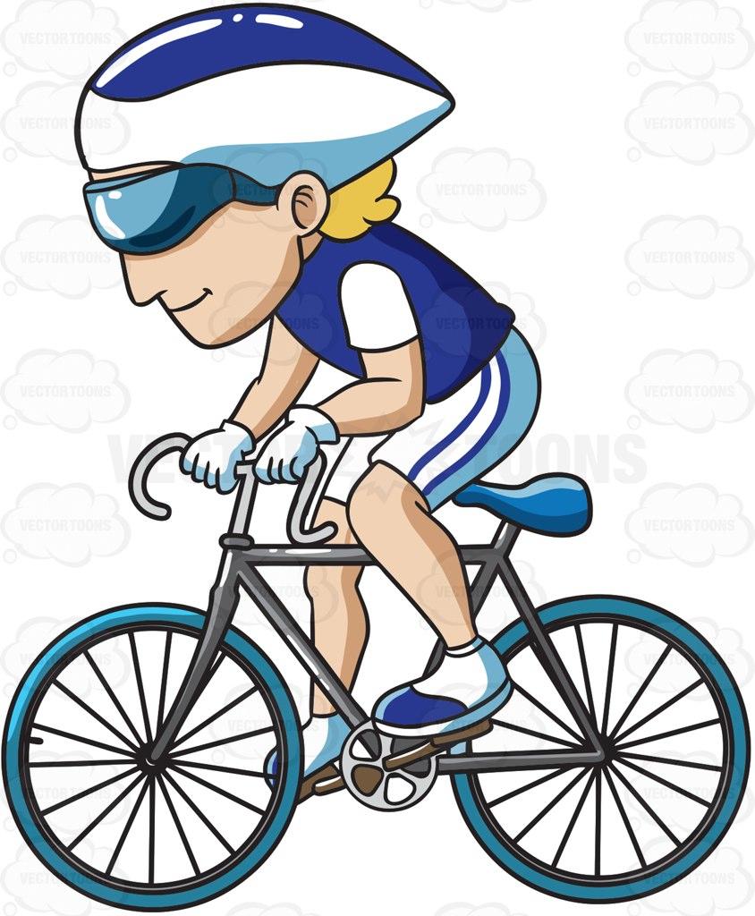 844x1024 A Man Enjoying A Ride On His Road Bike Cartoon Clipart Vector Toons