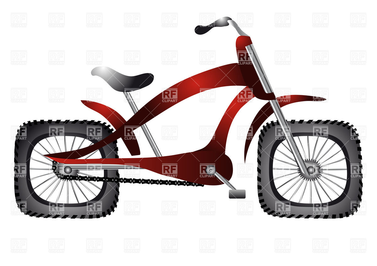 1200x849 Abnormal Bicycle With Square Wheels Royalty Free Vector Clip Art