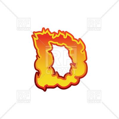 400x400 Fiery Letter D