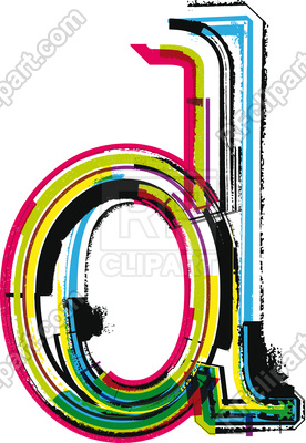 276x400 Letter D Colorful Grunge Font Royalty Free Vector Clip Art Image
