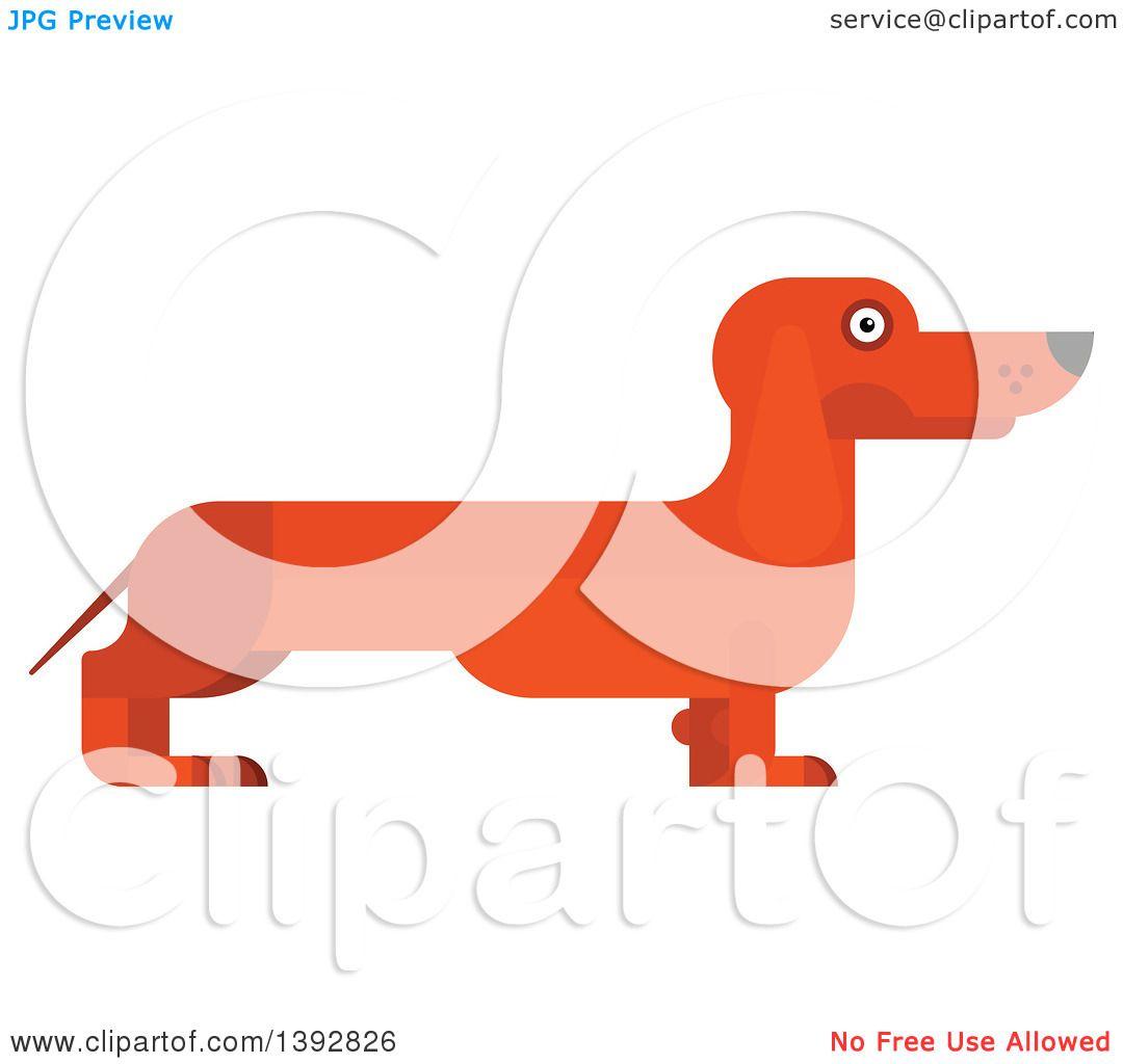 1080x1024 Clipart Of A Flat Design Dachshund Dog