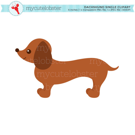 570x570 Dachshund Single Clipart Sausage Dog Clip Art Cute Dog Dog