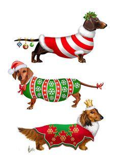 236x330 Dachshund Christmas Clip Art Clipart