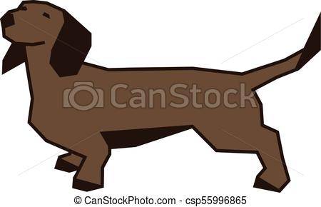 450x290 Dachshund Dog Vector Illustration Clip Art Vector