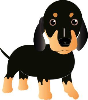 306x350 Free Dachshund Puppy Dog Clip Art All About Clip Art