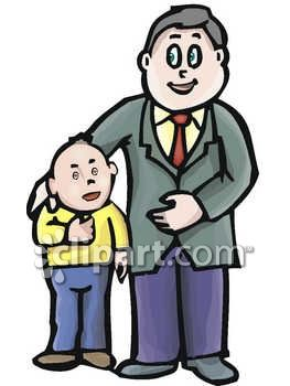 263x350 Daddy With Son Clipart