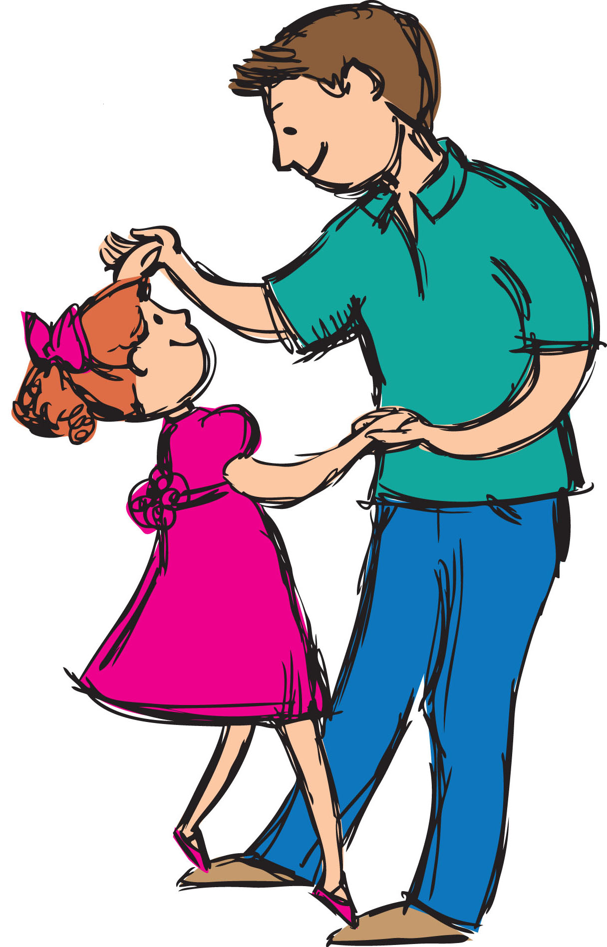 1216x1898 Pictures Clip Art Daddy Daughter,