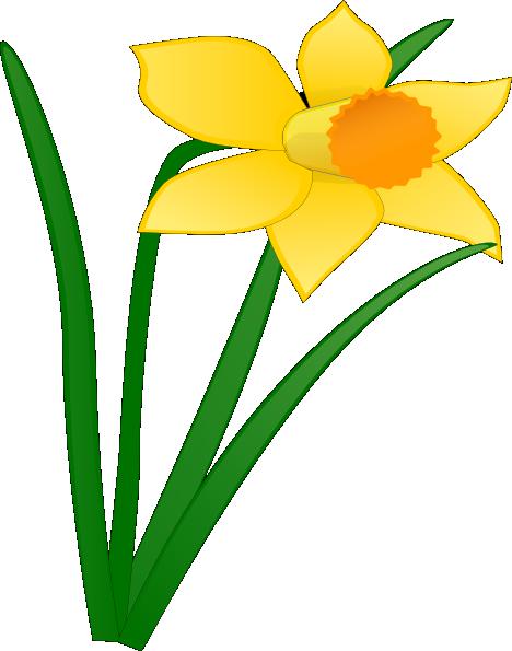 468x595 Daffodil Flower Clip Art Daffodil 1 Clip Art