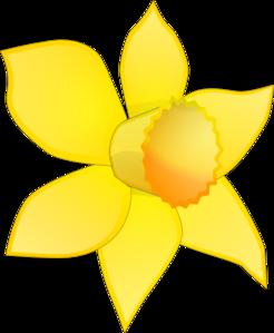 246x299 Clip Art Daffodils