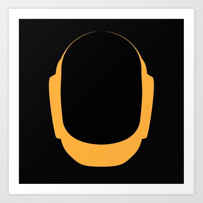 700x700 Daft Punk Guy Manuel Helmet Art Print By Allivanes Society6