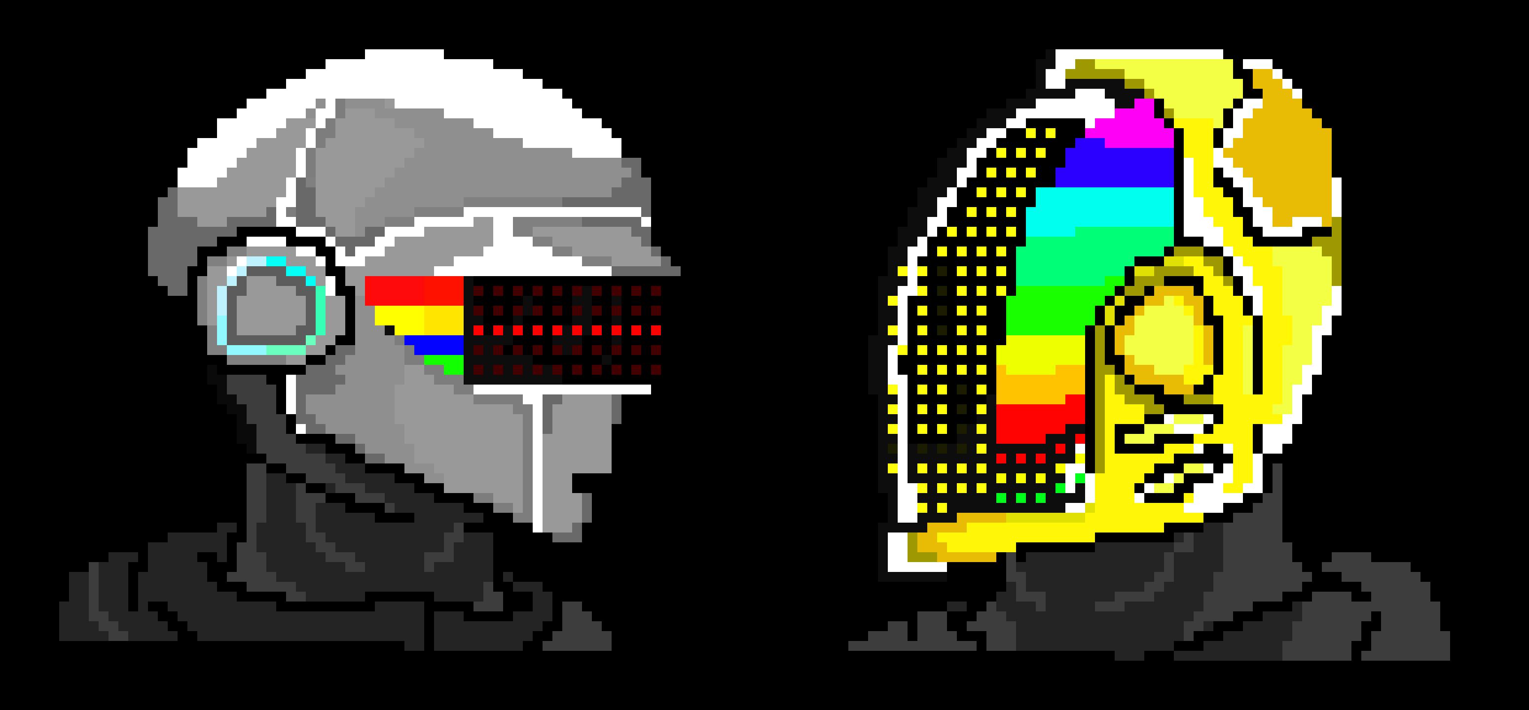 3100x1440 Daft Punk Pixel Art Maker