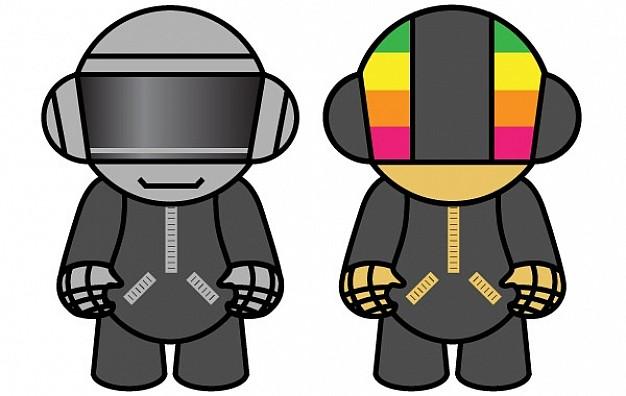 626x396 Daft Punk Dolls Vector Free Download
