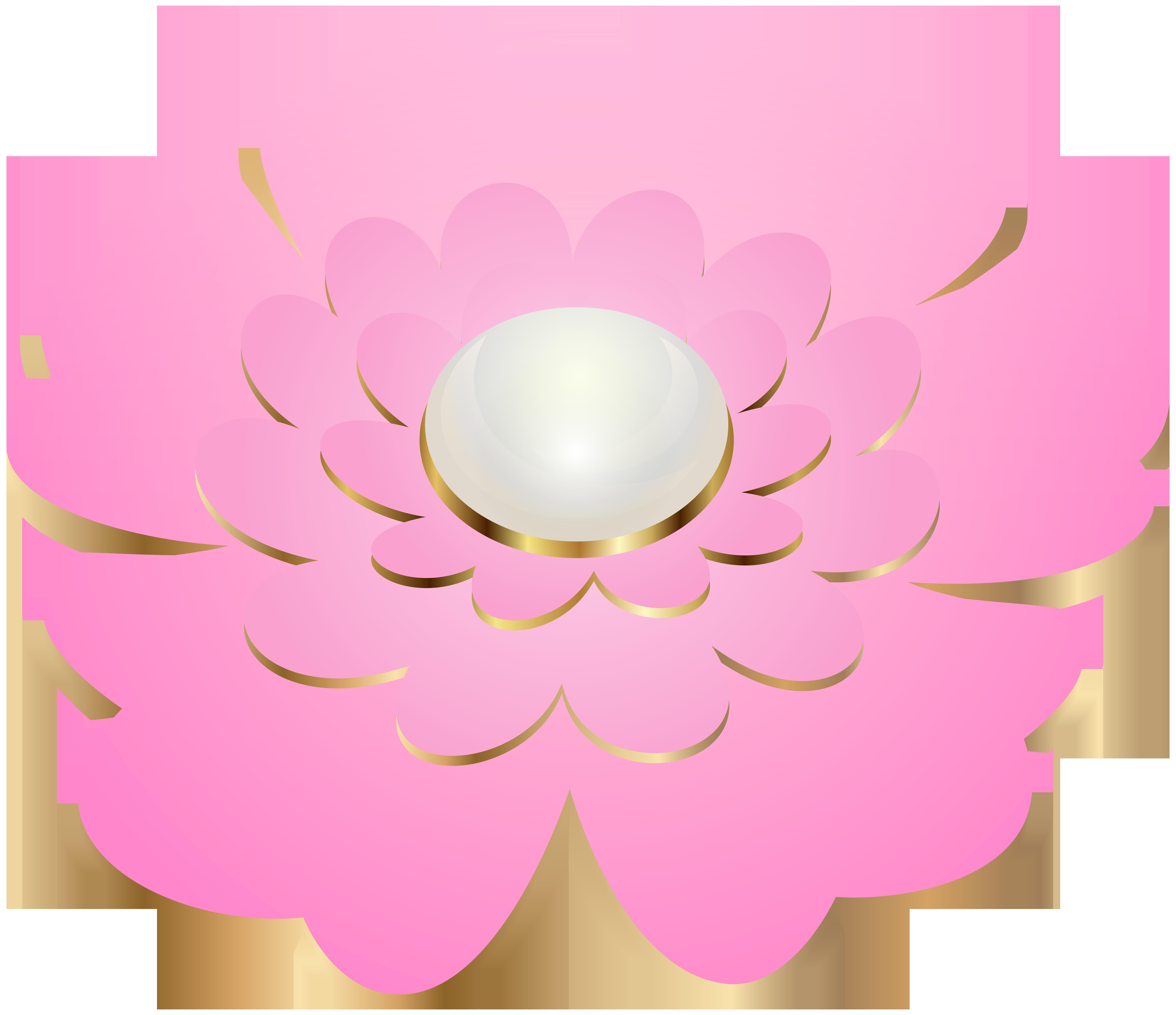 8000x6903 Pink Decorative Flower Transparent Clip Artu200b Gallery