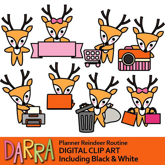 570x570 Reindeer Clipart Commercial Use Kawaii Chore Clip Art, Routine