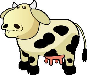 300x260 Colour Cows 1 Clip Art
