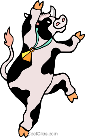 295x480 Cartoon Cow Royalty Free Vector Clip Art Illustration Anim0993