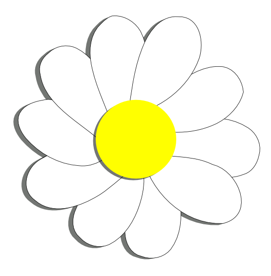 555x566 Daisy Flower 6 Scalable Vector Graphics Svg Inkscape Adobe