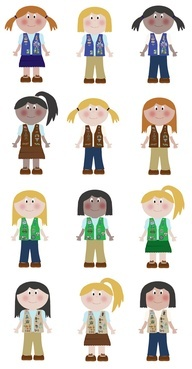 192x369 10 Best Girl Scout Clip Art Images On Brownie Girl