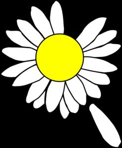 246x299 Daisy With Dropped Petal Clip Art