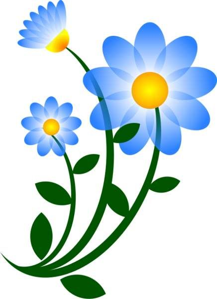 436x600 Blue Daisy Clip Art Clipart Clipart Clip Art, Art
