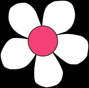 300x297 White Pink Daisy Clip Art