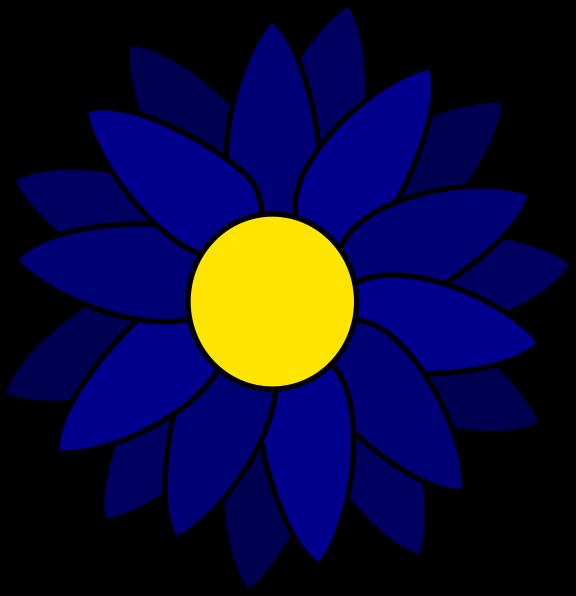 576x596 Blue Daisy Clip Art