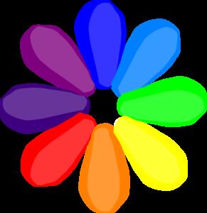 291x300 Bright Rainbow Daisy Clip Art