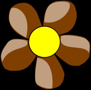 300x297 Brown Daisy Clip Art