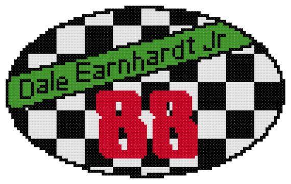 570x360 Counted Cross Stitch Pattern Dale Earnhardt Jr. By Dreamymemories