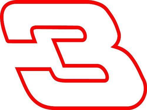 500x375 Dale Earnhardt 3 Nascar Auto Car Decal Sticker 10x7.5