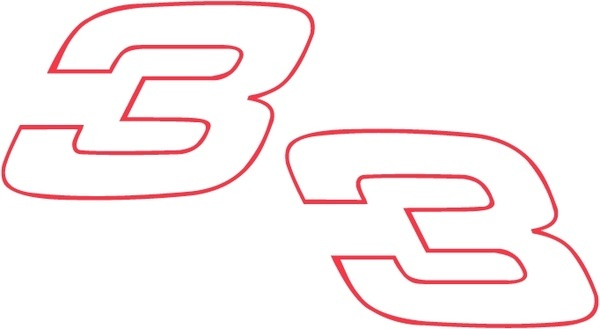 600x329 Dale Earnhardt Number 3 Free Vector Download (5,823 Free Vector
