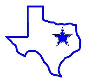 300x290 State of Texas w Dallas Cowboy Star