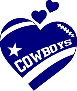 272x320 Heartbeat Star Cowboys Dallas Decal 3.5 Inches Tall