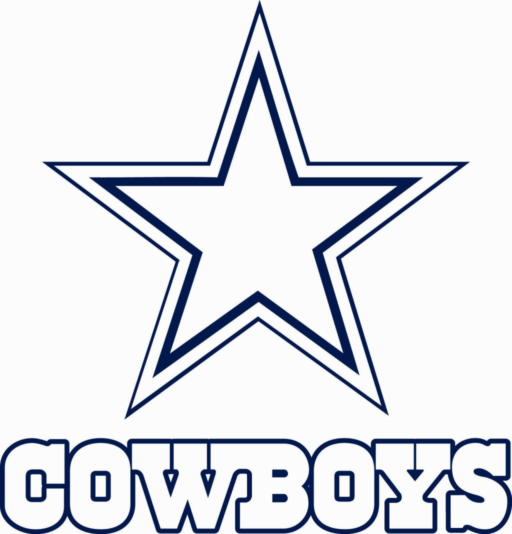 1024x1068 Dallas Cowboys Coloring Page