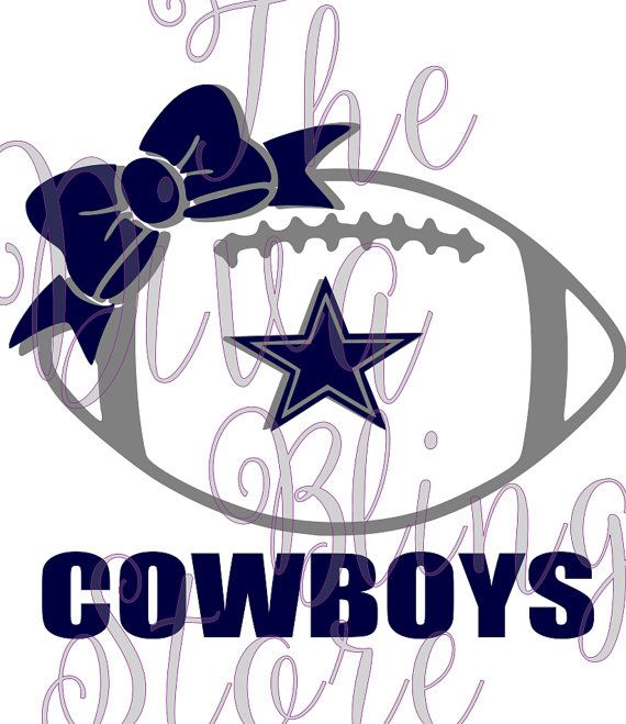 570x659 Dallas Cowboys Football With Bow Svg File Dallas Cowboys