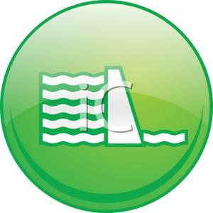 300x300 Clipart Picture A Green Dam Icon