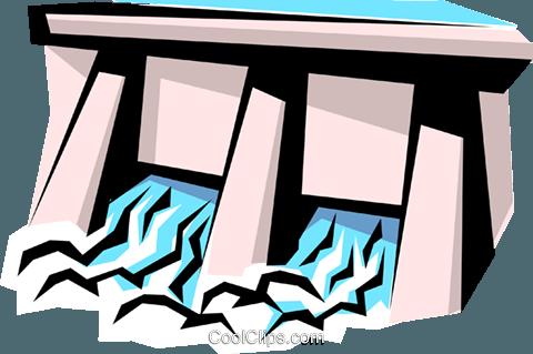 480x319 Dam Royalty Free Vector Clip Art Illustration Envi0140