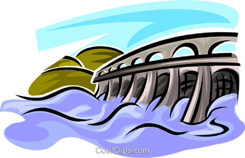 480x310 Hydro Dams Royalty Free Vector Clip Art Illustration Vc062691