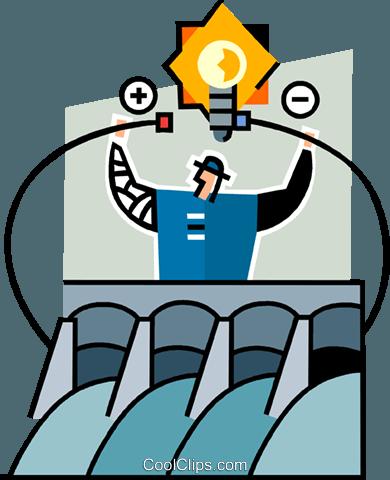 390x480 Hydro Dam Royalty Free Vector Clip Art Illustration Vc064953