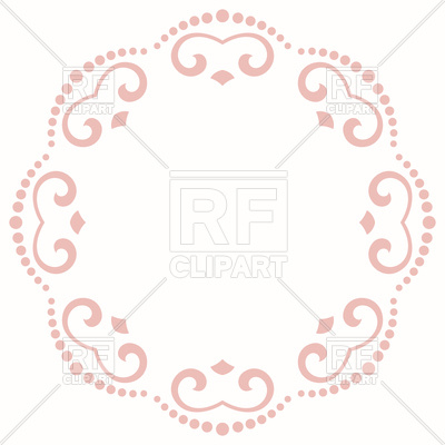 400x400 Oriental Damask Lace Royalty Free Vector Clip Art Image