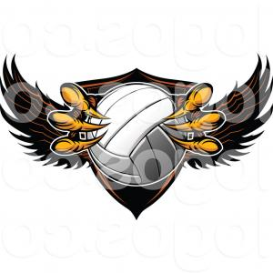 300x300 Royalty Free Clip Art Vector Logo Of A Shield And Eagle Talons