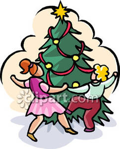 242x300 Dancing Christmas Tree Clip Art Clipart Collection